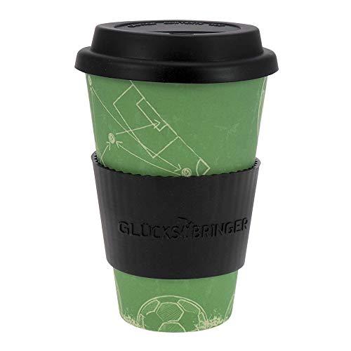 tasses en bambou Fortuna Coffee-a-Go ebos | Tasses à café, tasses à boissons | dégradable dans l'environnement, recyclable, écologique | Convient aux aliments, au lave-vaisselle (Teamplayer)
