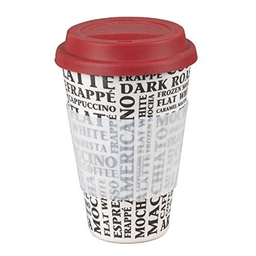 Tasse à café Cambridge à emporter, thermique, bambou, MOD. Arôme de café, carton