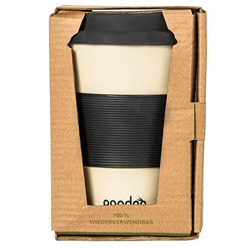 tasse à café de voyage pandoo 100% bio. Pour le café, les boissons, en bambou. Convient aux aliments, au lave-vaisselle