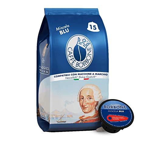Caffè Borbone Blu Blend - 90 capsules (6 paquets de 15) - Compatible avec les machines Nescafè® * Dolce Gusto® *