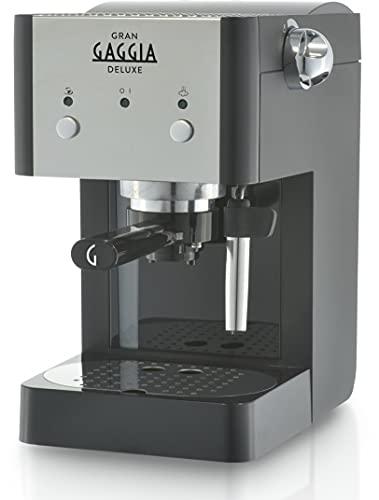 Gaggia GranGaggia Deluxe Black Machine à expresso manuelle, pour café moulu et dosettes, 15 bars, couleur noire, RI8425 11