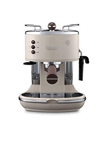 De Longhi Vintage Icon ECOV 311.BG Machine à expresso et cappuccino manuelle, café en poudre ou dosettes E.S.E., 1100 W, beige