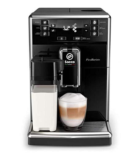 Philips Machines à café automatiques Saeco PicoBaristo SM5460 10 Machine à café automatique, 10 boissons, avec moulins en céramique, filtre AquaClean, carafe à lait intégrée, noir