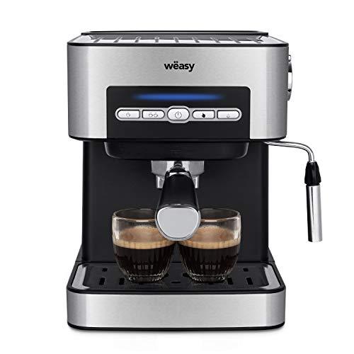 Machine à café automatique Wëasy KFX32, 850 W, 1,6 litre, acier, argent
