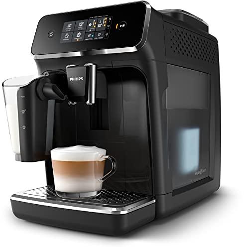 Philips 2200 Series EP2231 40, Machine à café automatique, 3 boissons, avec moulins en céramique, filtre AquaClean, pichet LatteGo, noir
