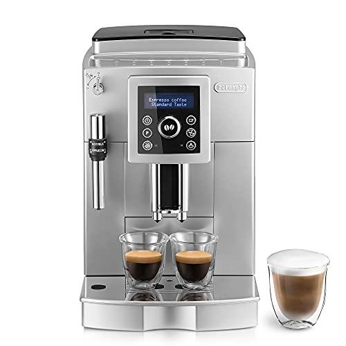 Machine à café automatique De Longhi ECAM 23.420.SB, 1450 W, 15 bars, 2 tasses, plastique, argent