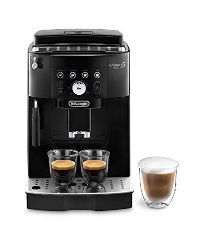 De Longhi Magnifica S Smart ECAM230.13.B Macchina da Caffè Automatica per Espresso e Cappuccino, Caffè in Grani o in Polvere, 13 livelli di macinatura, 1450 W, Nero (Esclusiva Amazon)