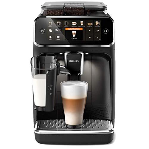 Philips Serie 5400 LatteGo EP5441 50 Macchina da caffè automatica con macine in ceramica e filtro AquaClean, Caraffa LatteGo, 12 bevande, Nero