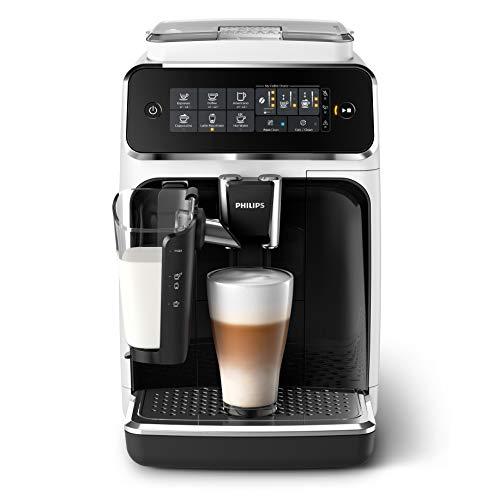 Philips Serie 3200 EP3243 50 Macchina da Caffè Automatica, 5 Bevande, con Macine in Ceramica, Filtro AquaClean, Caraffa LatteGo, 1500 W, 1.8 Litri, Bianco Nero