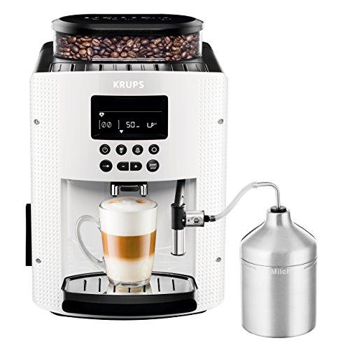 KRUPS Macchina da caffè completamente automatizzata (1,8 l, 15 bar, display LCD, sistema automatico per cappuccino) bianco
