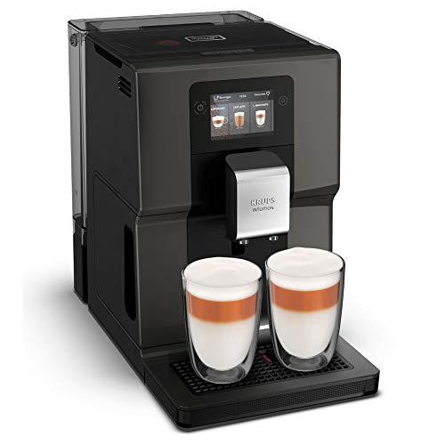 Krups Macchina da caffè automatica EA872B Intuition Preference con touch screen a colori simile a smartphone da 3,5 , visualizzazione luminosa a colori intuitiva, 11 bevande personalizzabili