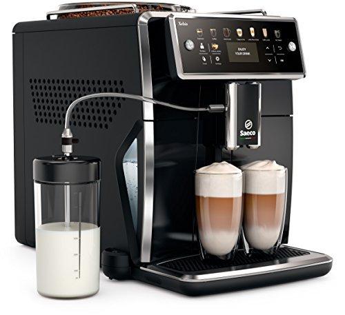Saeco Xelsis SM7580 00 Macchina da Caffè Automatica con Macine in Ceramica, Filtro AquaClean, Caraffa Latte Esterna