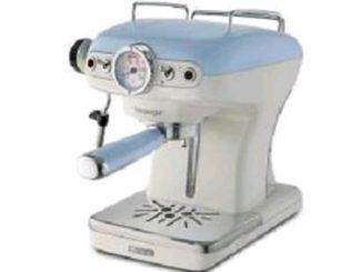 ARIETE VINTAGE 1389 MACHINE A CAFE EXPRESSO 900W 0.9LT PRESSION RESERVOIR 15 BAR COULEUR BLANC / BLEU