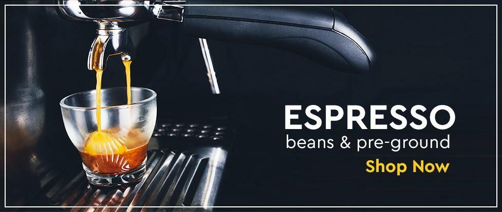 Espresso moulu et haricots