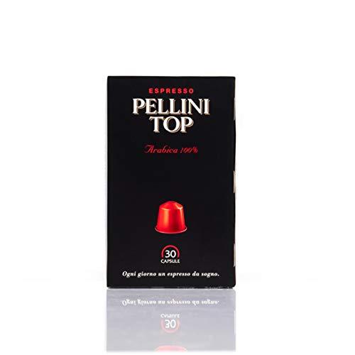 Pellini Coffee Top Arabica 100%, Compatible Nespresso, Auto-protégé, 100% Compostable, 30 Capsules