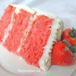 Gâteau aux fraises ~ (Recette de mélange de gâteau raffermie)