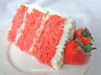 Strawberry (Doctored Cake Mix Recipe) by MyCakeSchool.com!