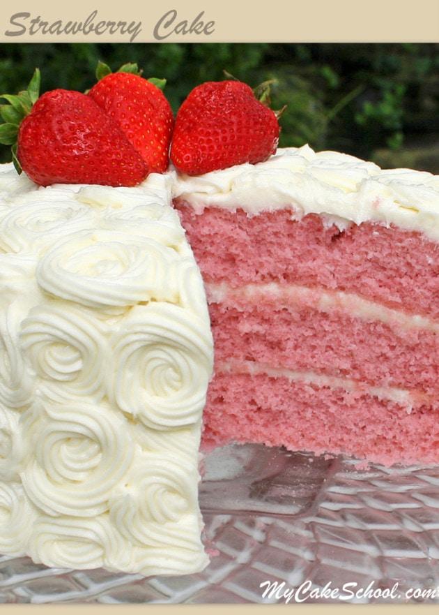 La MEILLEURE recette de gâteau aux fraises de Scratch par MyCakeSchool.com!