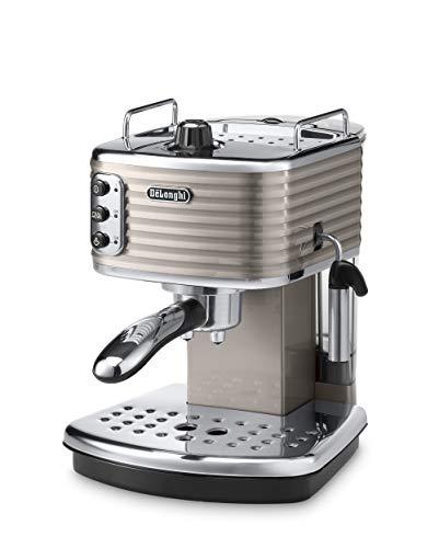 De Longhi Scultura ECZ351.BG Machine à expresso et cappuccino manuelle, café en poudre ou dosettes E.S.E., 1100 W, 15 bars, beige