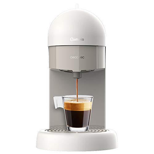 Machine à café Cecotec Capricciosa Blanche. Compact, 19 bars, 110W, pour café moulu et dosettes ESE.