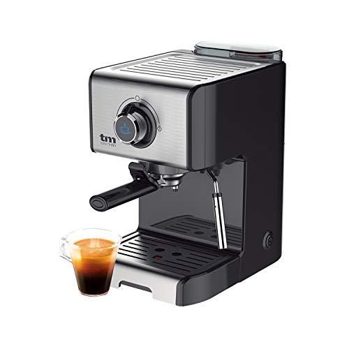 TM Electron TMPCF101 macchina per caffè espresso manuale con 15 bar di pressione, 1200 W, serbatoio 1,2 L, schiumatore per latte, 3 funzioni, realizzato in acciaio inox, 1 Cups