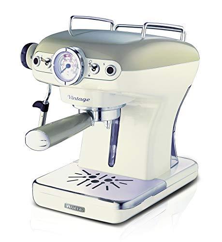Ariete 1389 Caffè Espresso Vintage - Macchina per caffè Espresso per polvere o cialda ESE, in colore Beige pastello