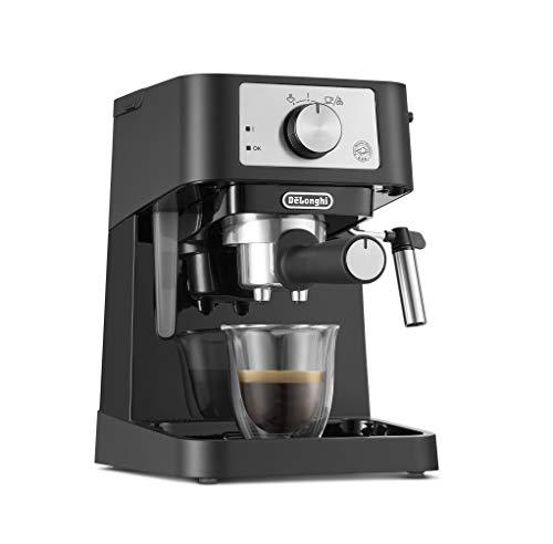 De Longhi EC 260.BK - Portafiltro tradizionale con bocchetta professionale in acciaio INOX, per caffè espresso in polvere, 15 bar, 1,0 l, colore: Nero