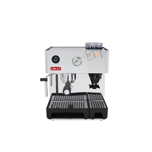 Lelit PL042EM Macchina Espresso, 1200 W, Acciaio Inossidabile, Argento