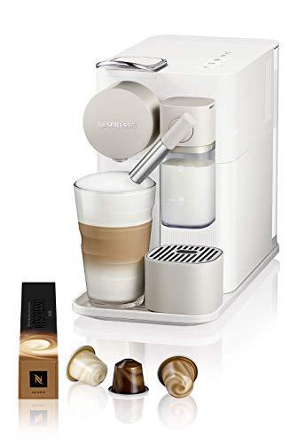 De Longhi Lattissima One Evo, Machine à café en capsules jetables, Mousseur à lait automatique, Cappuccino et lait, EN510.W, 1450W, Blanc
