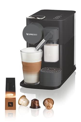 De'Longhi Lattissima One Evo, Machine à café en capsules jetables, Mousseur à lait automatique, Cappuccino et latte, EN510.B, 1450 W, Noir
