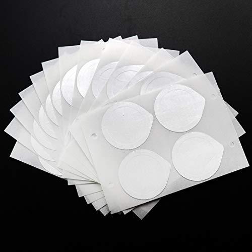 FineInno 100 pièces Couvercles en papier d'aluminium Couvercles en papier d'aluminium Couvercles de capsules de café auto-adhésifs Film Seals Compatible avec NESPRESSO INISSIA C40, NESPRESSO LATTISSIMA TOUCH F511, 1,5 pouces (37 mm)