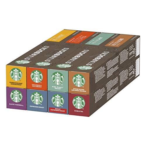 Café Starbucks par Nespresso, 8 Boîtes de 10 Capsules