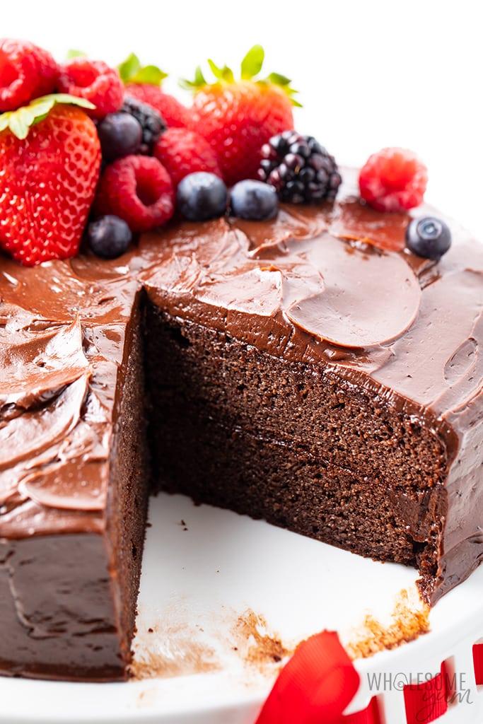 meilleur gâteau au chocolat céto sur pied
