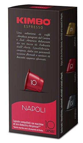 Kimbo Capsules Napoli Compatible Nespresso - 12 Boîtes de 10 Capsules (Total 120 capsules)