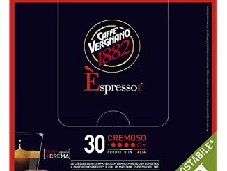 Caffè Vergnano 1882 Èspresso Compostable Capsules de café compatibles Nespresso, crémeux - 8 paquets de 30 capsules (total 240)