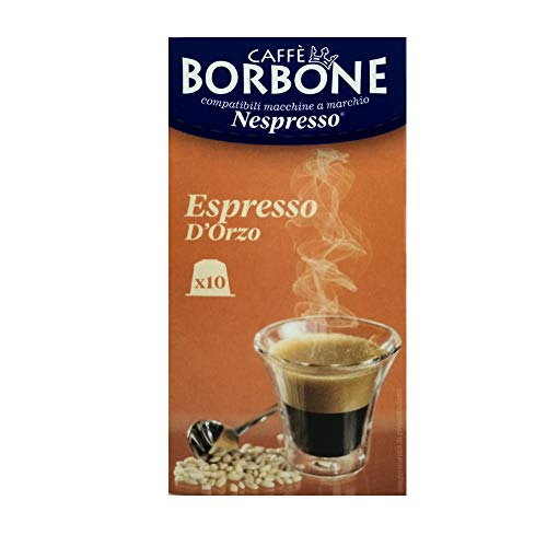 10 Capsules d'orge expresso Caffè Borbone compatibles avec Nespresso ®