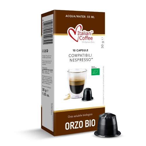 60 capsules de café d'orge soluble bio compatibles avec Nespresso® * Café Italien