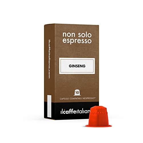 FRHOME - 50 Capsules de Ginseng - Compatible avec les machines à café Nespresso Il Caffè Italiano