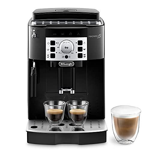 De Longhi Magnifica S ECAM22.110.B Machine à café automatique pour expresso et cappuccino, café en grains ou en poudre, 1450 W, noir