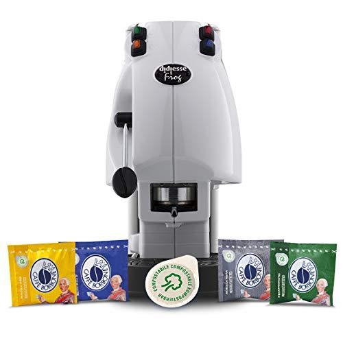Pack Didiesse Frog Revolution Magica Emozione (Machine à dosettes + 60 capsules), 650 W, Blanc