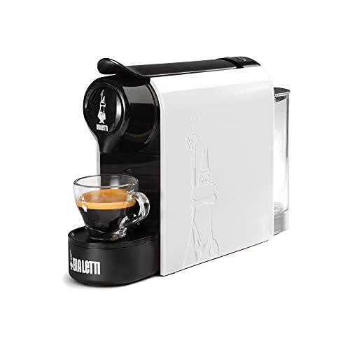 Bialetti Gioia, Machine à café expresso pour capsules en aluminium Système Bialetti il Caffè d'Italia, Supercompact, Blanc