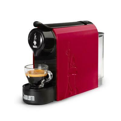 Machine à café rouge Gioia Bialetti avec capsules pour espresso rouge