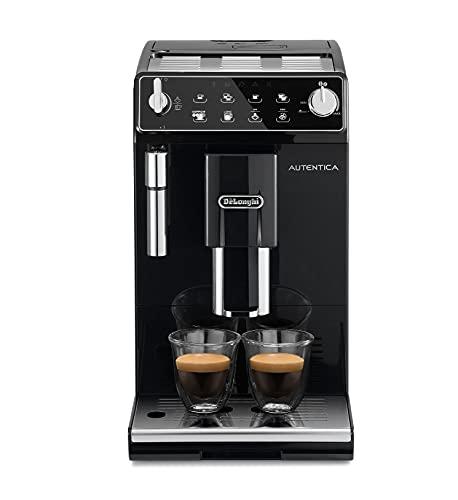 De Longhi Autentica ETAM29.510.B Machine à café automatique pour expresso et cappuccino, café en grains ou en poudre, 1450 W, noir