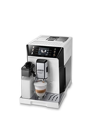 De Longhi PrimaDonna Class ECAM 550.65.W Macchina da caffè automatica con sistema di latte, cappuccino ed espresso premendo un pulsante, display a colori TFT da 3,5 pollici e controllo app, bianco