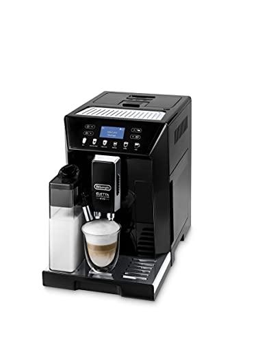 De Longhi Eletta Evo ECAM 46.860.B - Macchina da caffè con sistema di latte, cappuccino e espresso premendo un pulsante, display LCD e tasti a sensore, colore: Nero