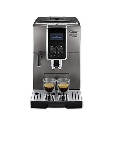 De Longhi ECAM359.57.TB Macchina da caffè Automatica Dinamica Aroma Bar, 240 Decibel, plastica, Titanio Nero