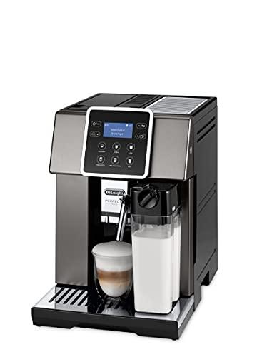De Longhi Perfecta Evo - Macchina automatica per caffè in grano, espresso, cappuccino, ESAM420.80.TB, titanio, nero