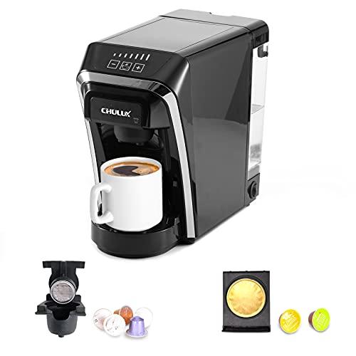 Machine à café à capsules, machines à café monodose multifonctions Chulux compatibles avec les capsules Nespresso et Dolce Gusto pour un usage domestique