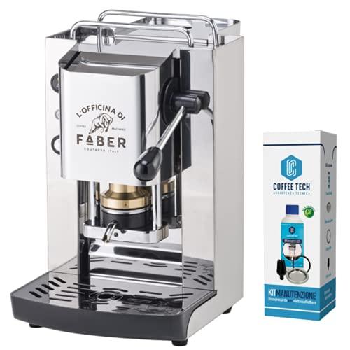 FABER SLOT PRO TOTAL INOX MACCHINA DA CAFFE  A CIALDE ESE 44 MM + 20 cialde Emozioni Quotidiane