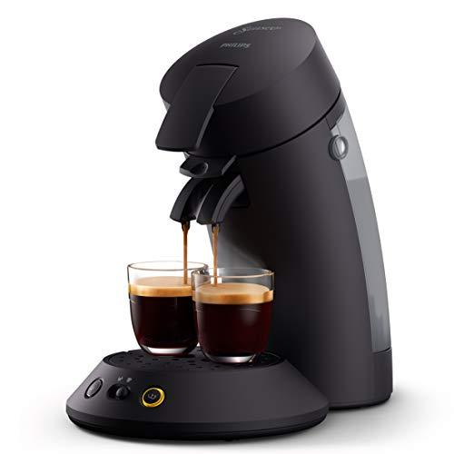 Philips Senseo Original Plus CSA210 60 - Machine à café à dosettes, technologie boost café, fabriqué à partir de plastique recyclé, couleur : Noir